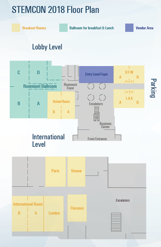 STEMCON floor map